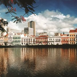 historisch centrum Recife Brazilie, panorama